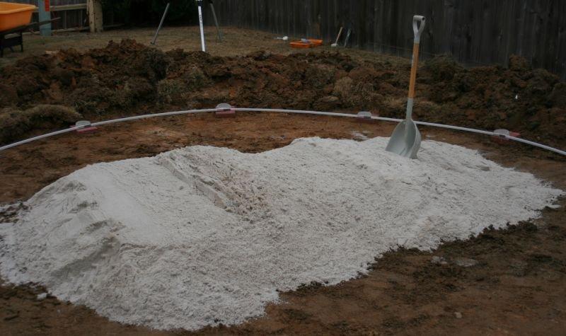 Pool Installation Sand